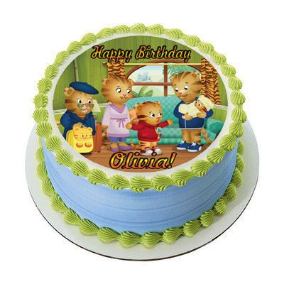 Daniel Tigger Edible Birthday Cake Topper
