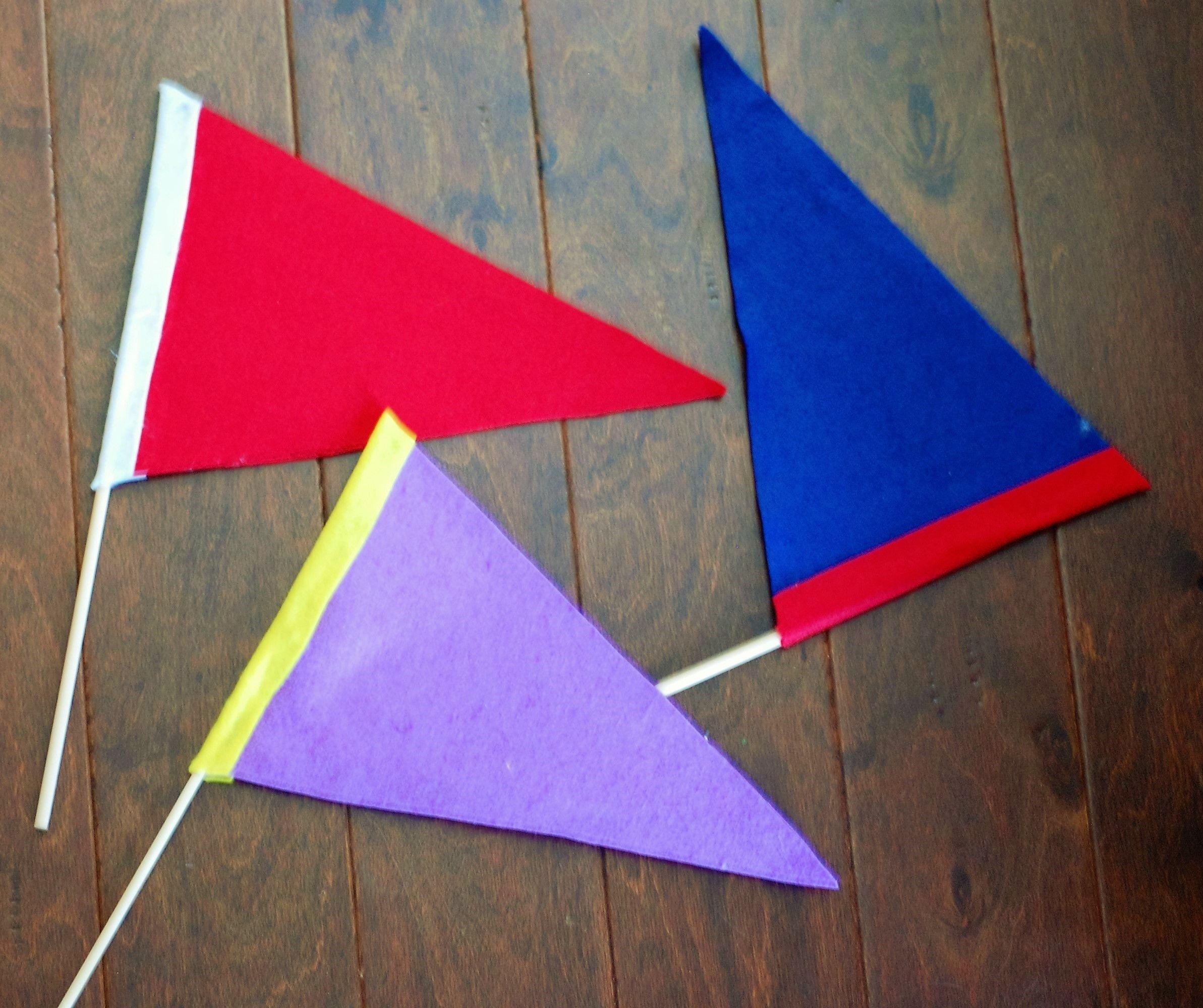 Uncategorized How To Make A Felt Banner diy felt pennant team flags and felting flags