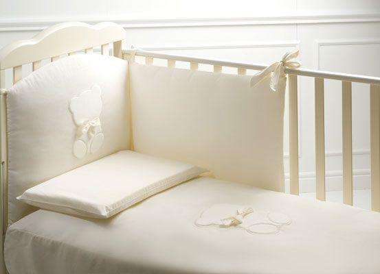 Cameretta noce ~ Cameretta perla noce antico con lettino bijoux #baby #crib #cot
