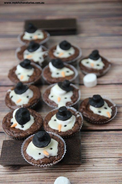 Melted Snowman Brownies Recipe Christmas Desserts Christmas
