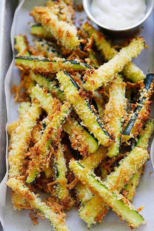 Photo of Parmesan Zucchini Fries (Healthy and Extra Crispy!) – Rasa Malaysia
