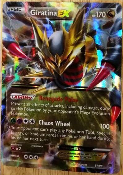 Giratina EX 57//98 Ancient Origins Rare Holo ex Mint Pokemon Card