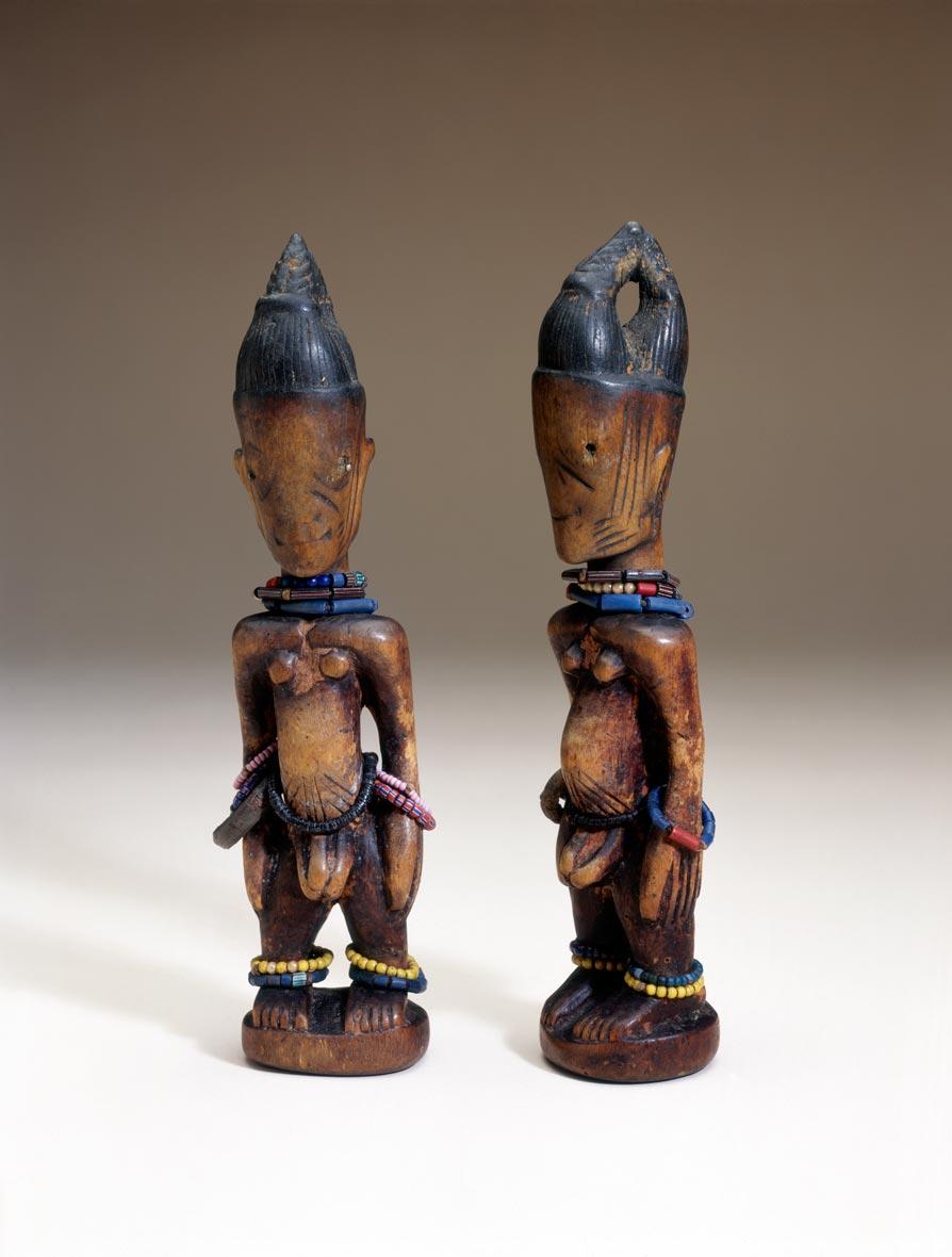 X87.1593a,b Ere Ibeji Museum, West africa, Africa