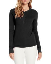 6362407b41a Michael Stars - Baby Thermal Henley - Lyst