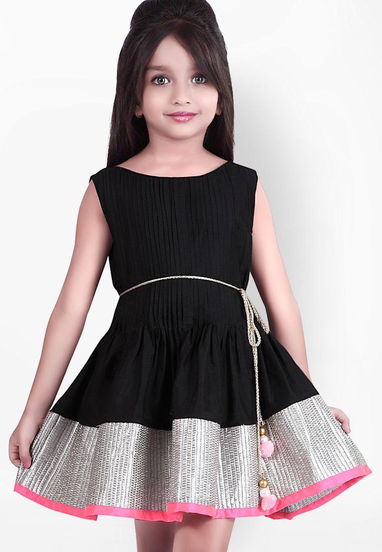 c68ecc58137 Buy K U Black Casual Dress for Girls Online India