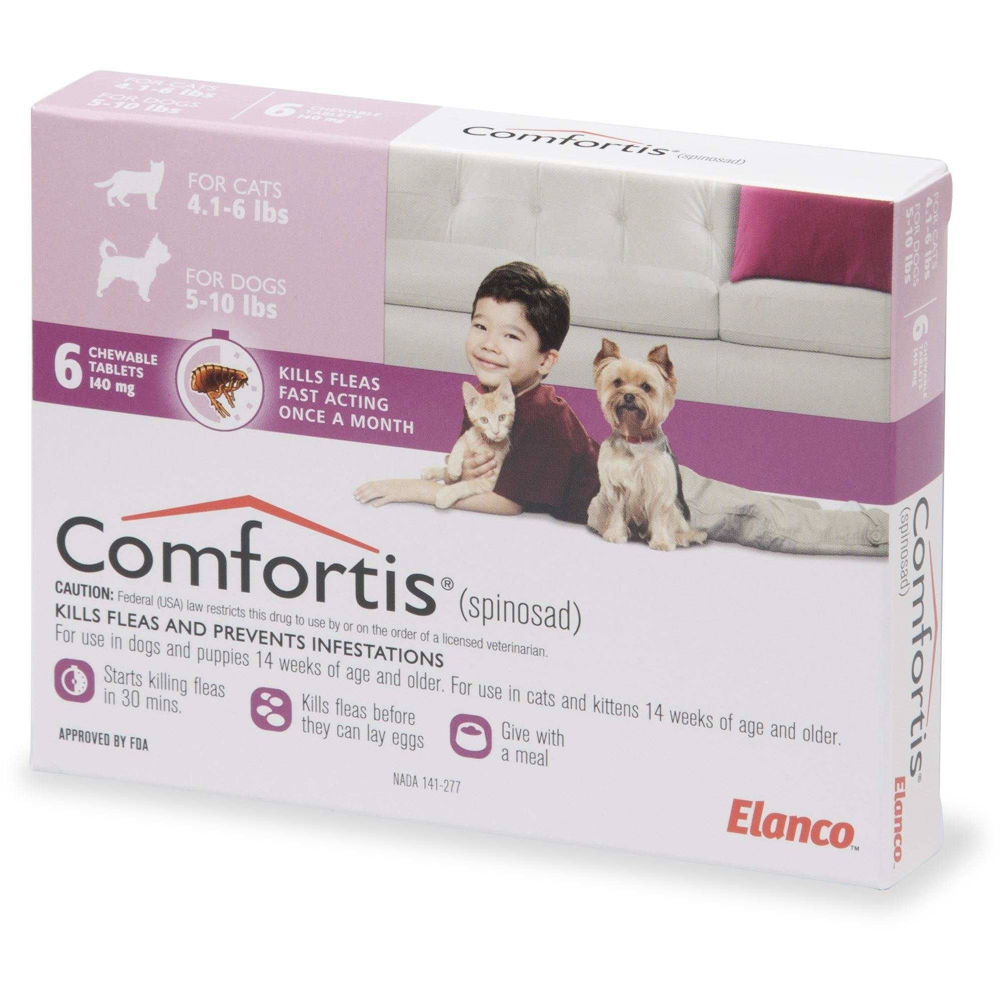 Comfortis Chewables For Dogs 5 To 10 Lbs And Cats 4 To 6 Lbs 6 Pack Petco Comfortis Chewables For Dogs 5 To 10 Lbs And Cat In 2020 Petco Cats Flea Infestation