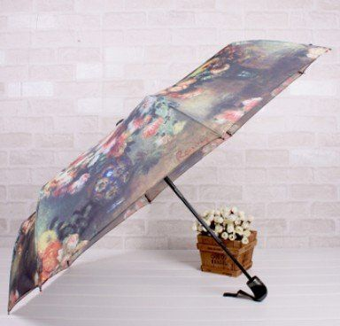 7 Weapons European Oil Painting Umbrella