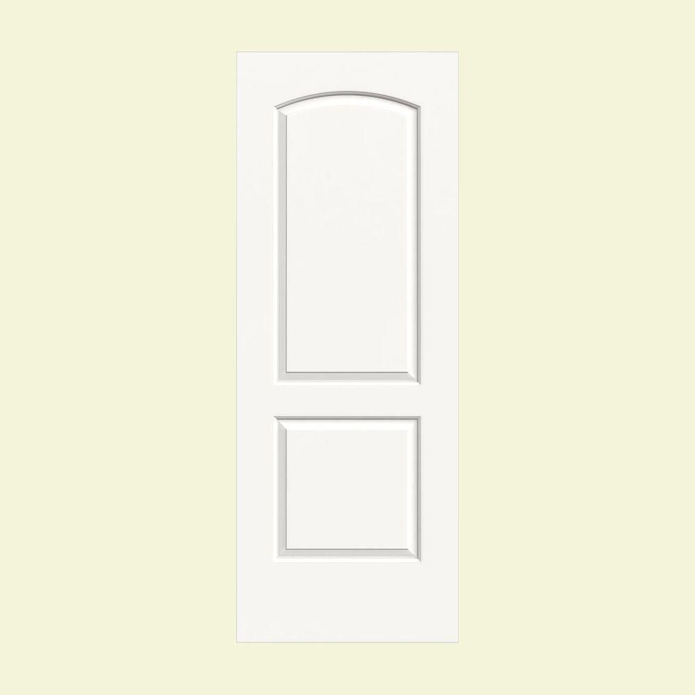 Jeld Wen 30 In X 80 In Molded Smooth 2 Panel Arch Brilliant White