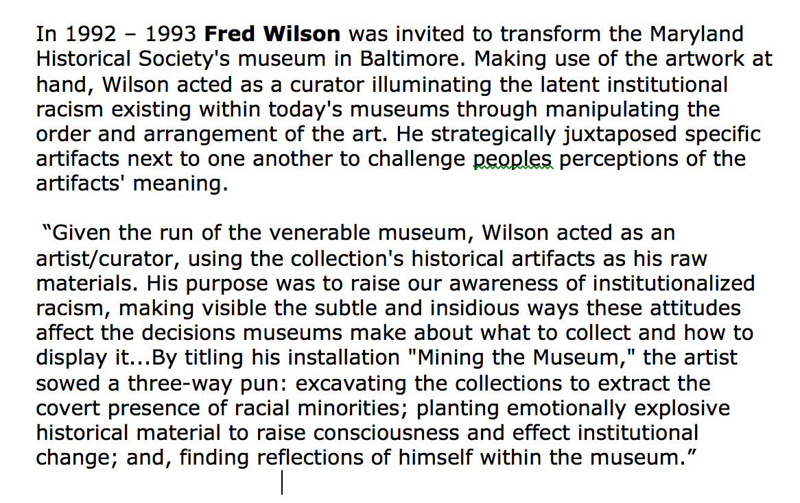 fred wilson mining the museum pdf