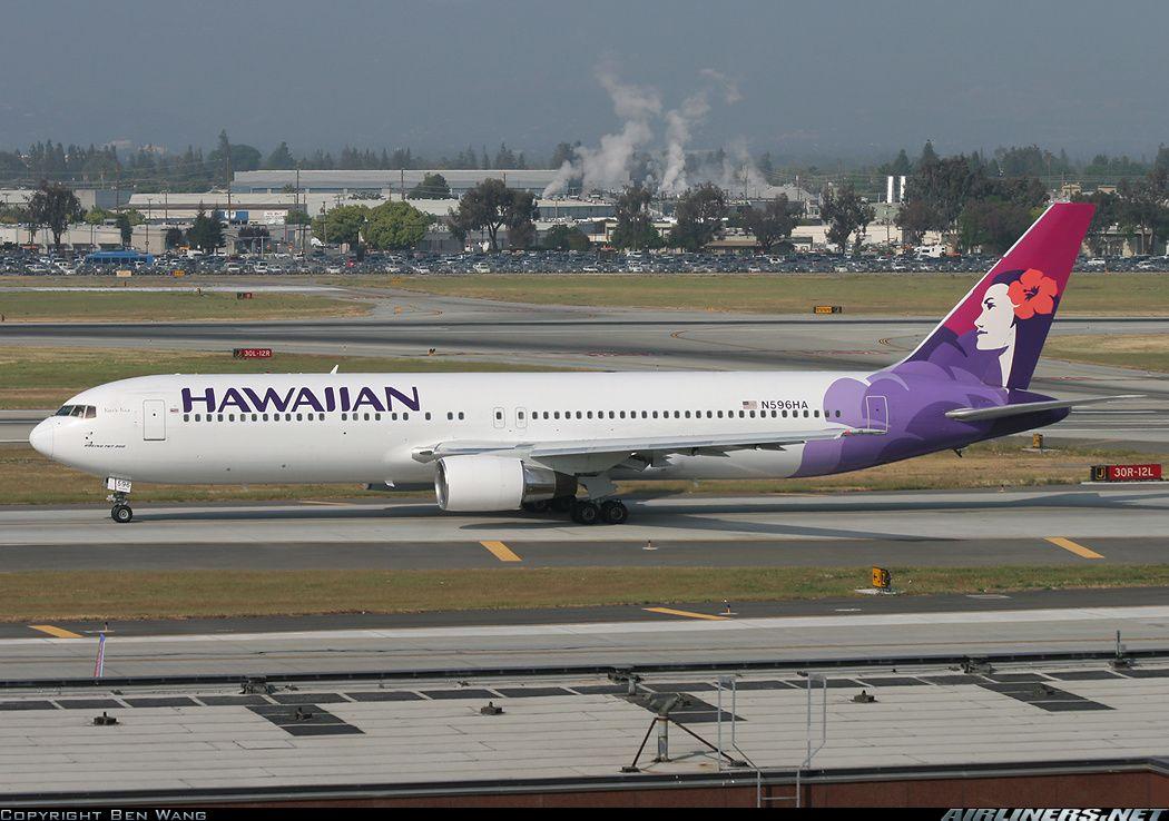 Hawaiian Air Boeing 767332 (N596HA) at San Jose (KSJC