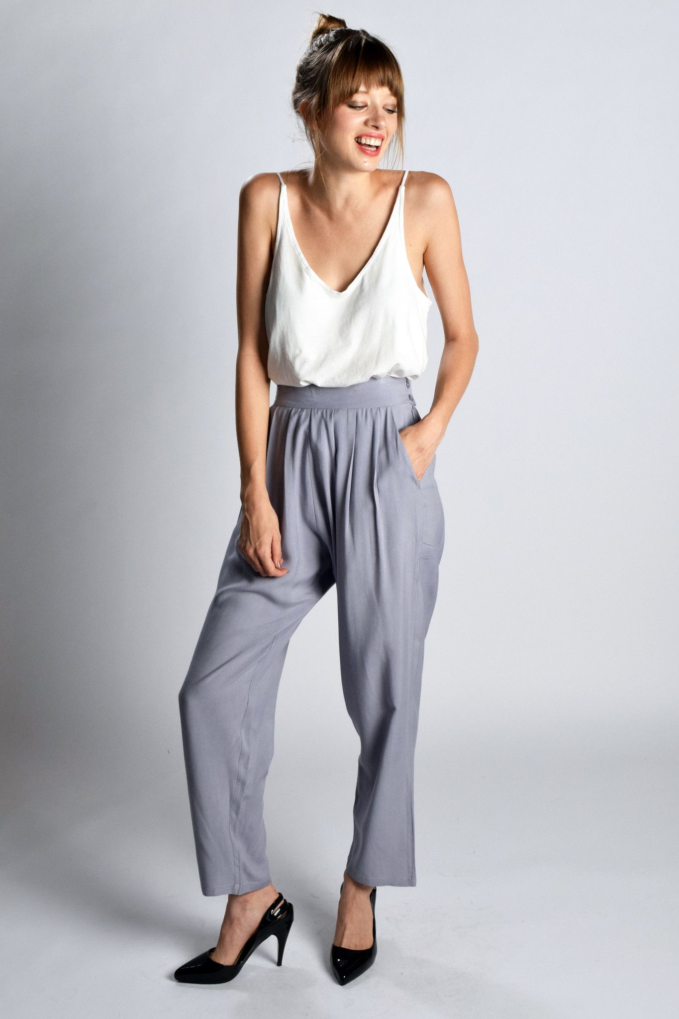High Waisted Tapered Pant