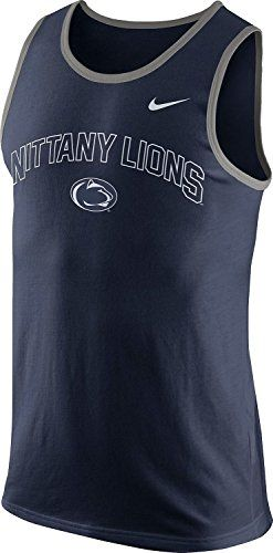 Penn State Nittany Lions Sleeveless Navy Blue Jersey Mens Large Excellent Clothing, Shoes & Accessories Men's Clothing