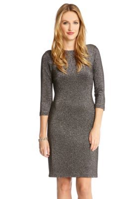 f07a7155f06 Karen Kane Metallic Knit Dress