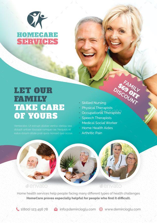 Home Care Flyer Bundle Templates Home Care Home Health Home Health Aide