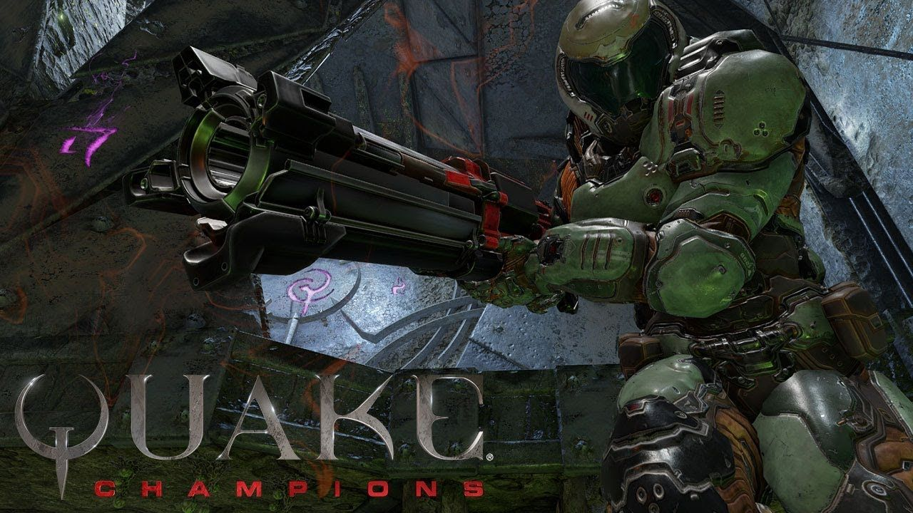 Quake champions is the second best game shown today to feature bj blazkowicz games pinterest wolfenstein and gaming