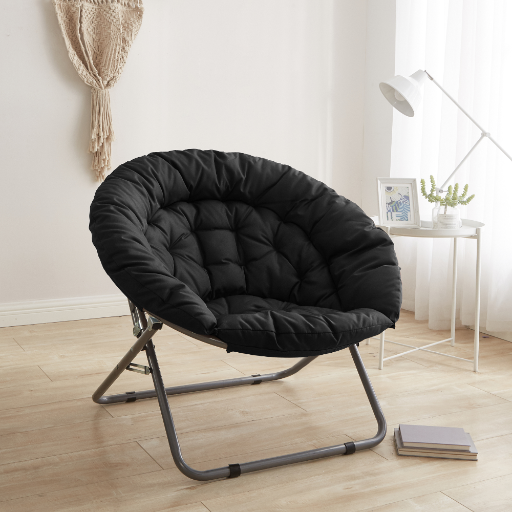 Urban Shop Black Oversized Faux Fur Moon Chair Available In Multiple Colors Walmart Com In 2020 Moon Chair Urban Shop Chair
