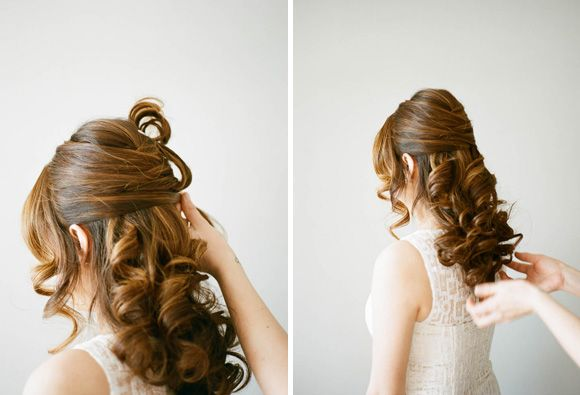 Wedding hair for a simple bride  #weddinghair #budgetwedding www.brieonabudget…..