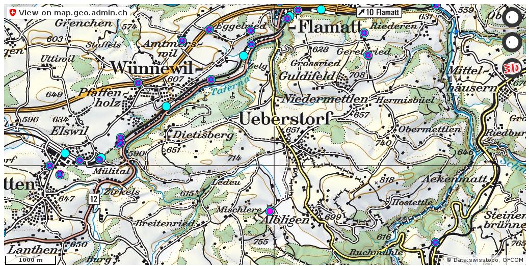 Ueberstorf FR Handy antennen netz Natel http://ift.tt/2pTNaW4 #karten #mapOfSwitzerland