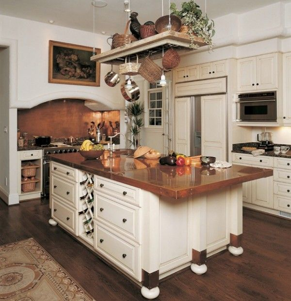 Design ideas for a traditional kitchen with copper benchtops ...