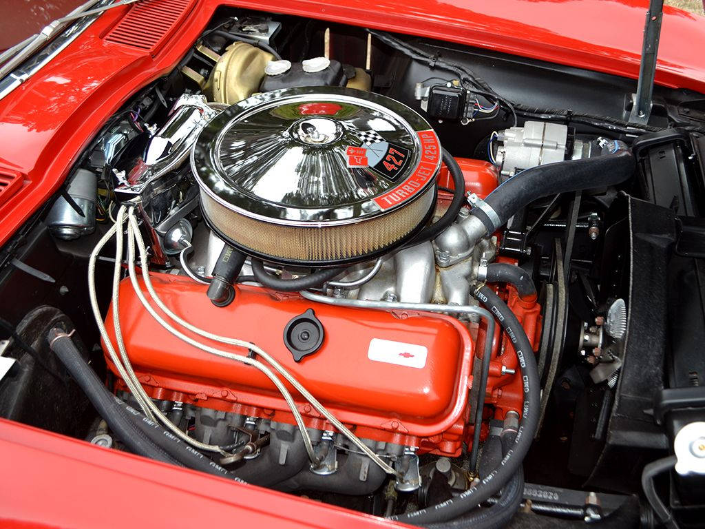 1966 chevrolet corvette with the 427 425hp l72 engine 1966 was the first year