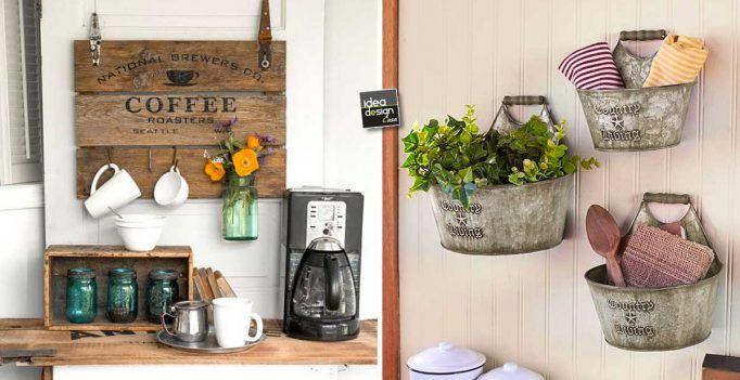 Decorazioni fai da te stile country chic per abbellire casa