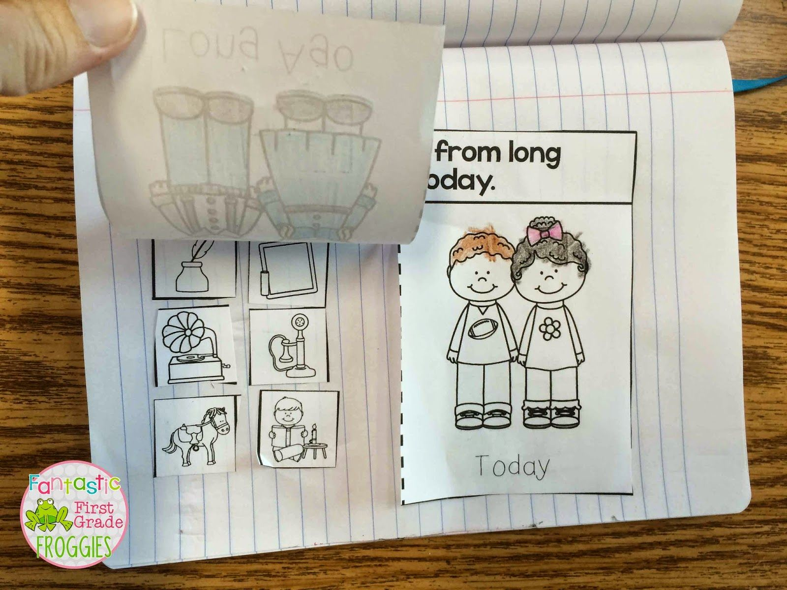 Fantastic First Grade Froggies Then And Now Freebie