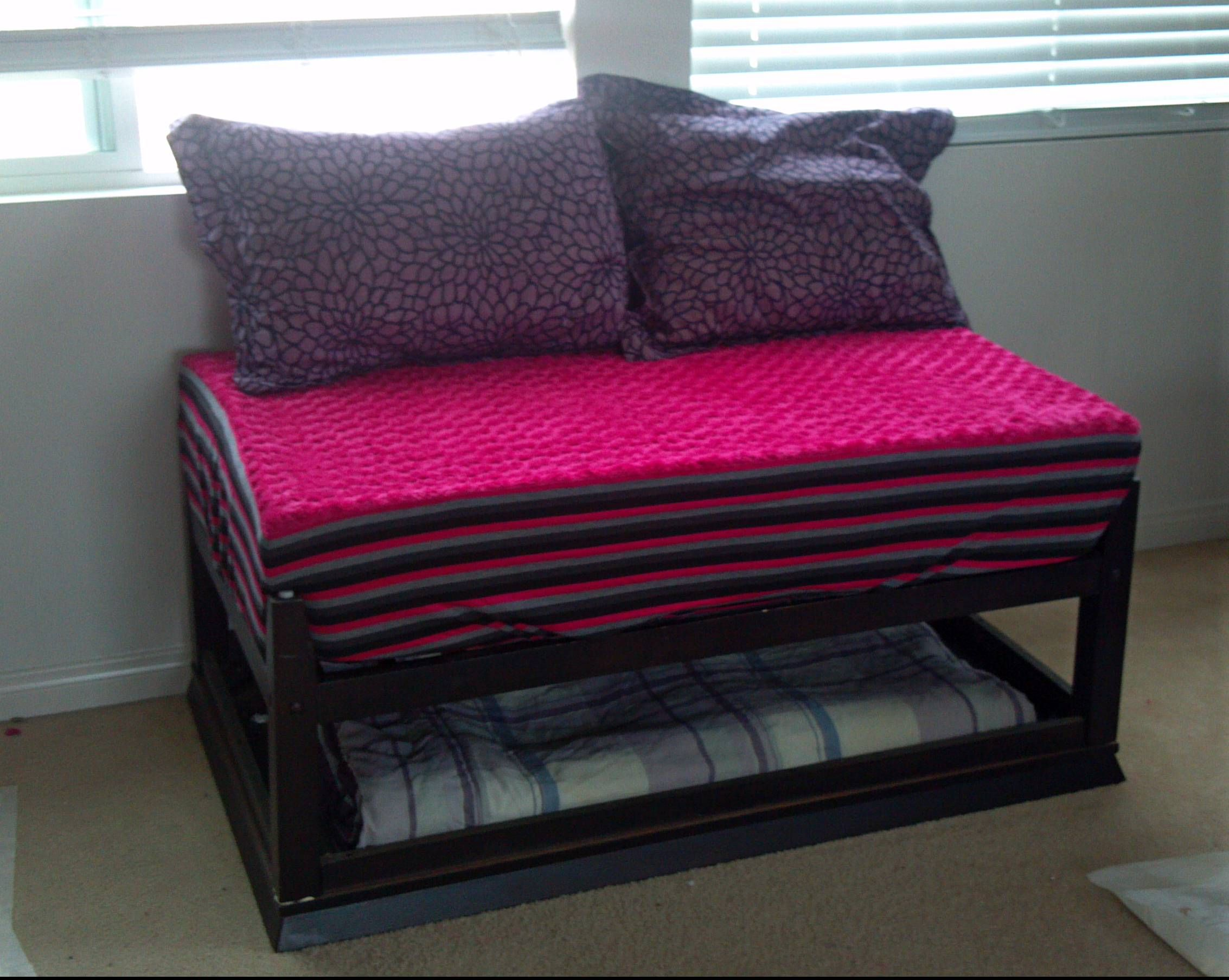 Coffee Table turned into a Day Bed for my Niece!! Found
