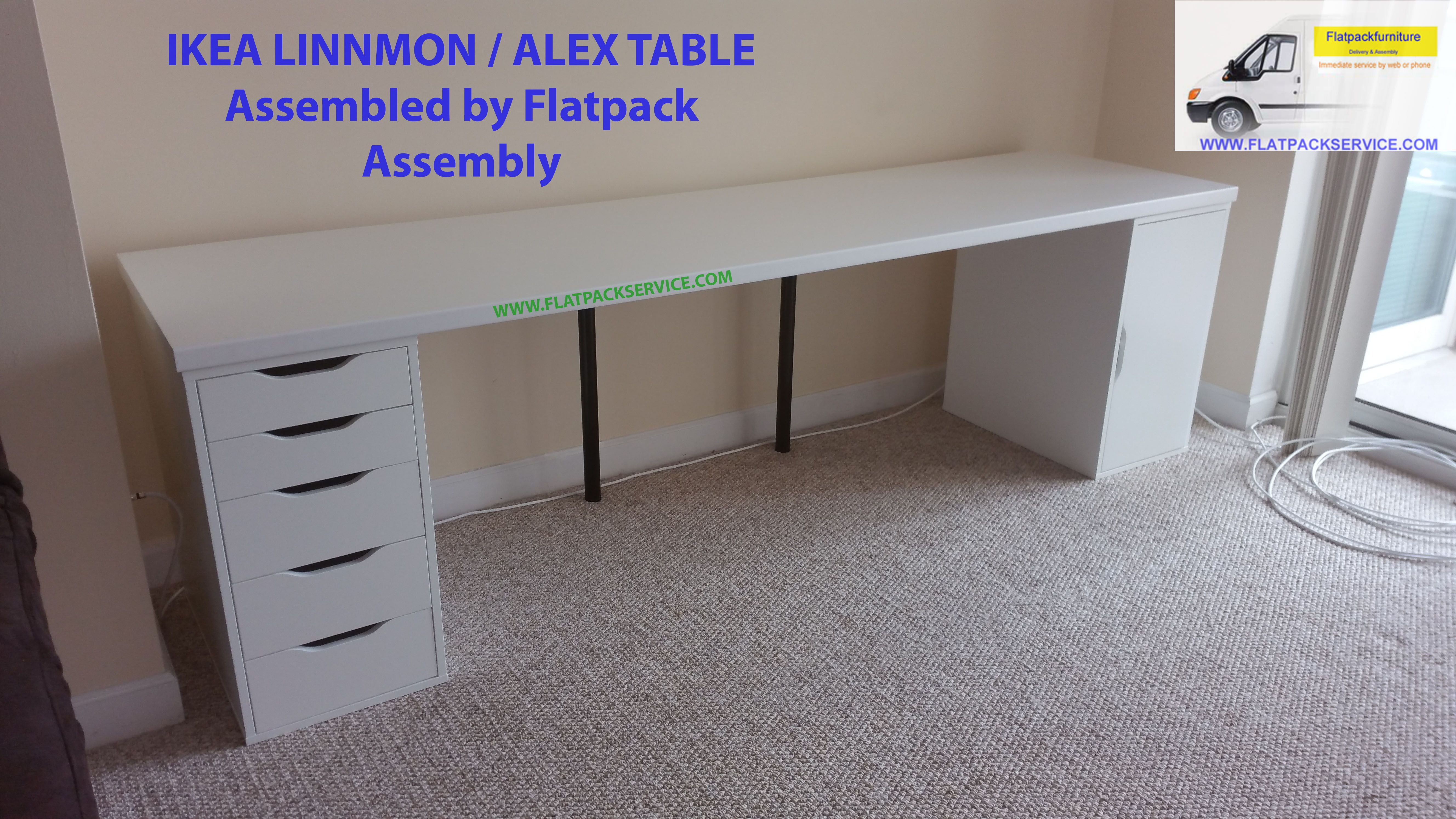 Ikea Linnmon Alex Table Article Number 599 326 98 Assembled By