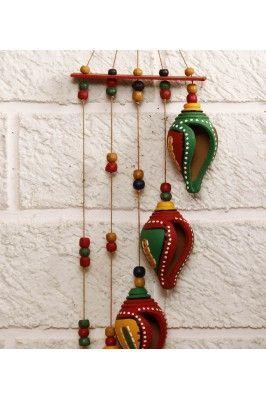 Terracotta Shankh Wind Chime Online