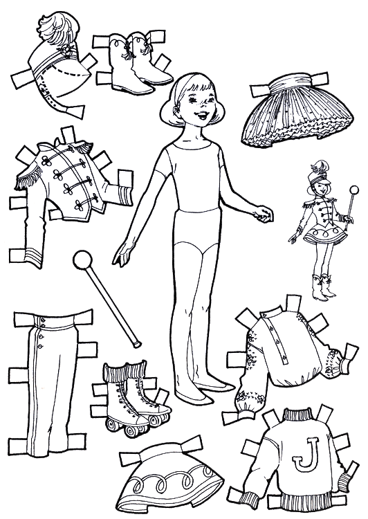 For Kids Playtime Paper Dolls To Color And Cut Out Kids Fun