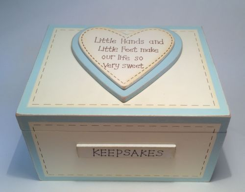 Baby Gift Keepsake Box : Hand made wooden baby boy keepsake memory box christening