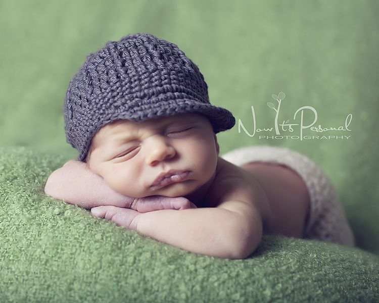 crochet baby boy hats | Crochet Newsboy Hat Pattern | Ribbed Visor ...