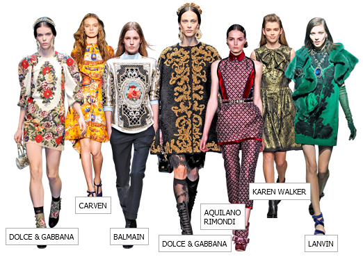 Different Designers Inspired By The Baroque Look Fashion Asos Fashion Finder Fashion Seasons