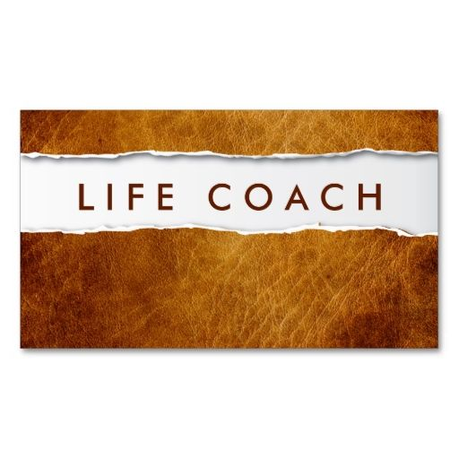 Old Ripped Paper Life Coach Business Card This Great Design Is Available For