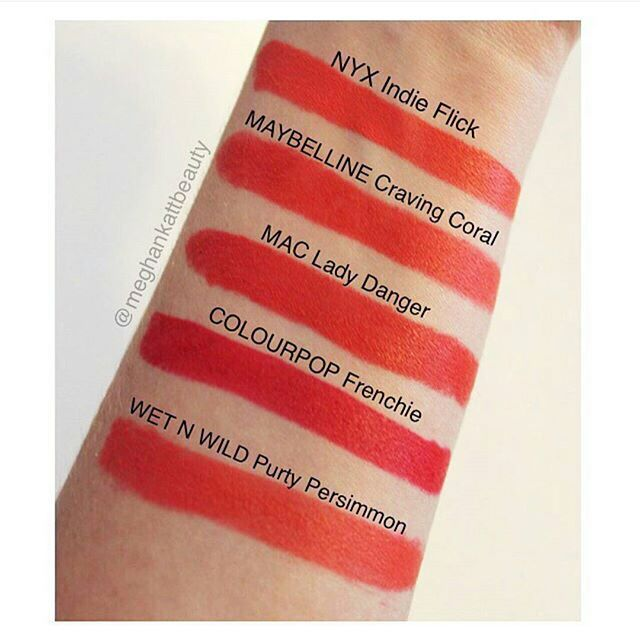 Thanks @meghankattbeauty for this roundup! There sure is no shortage of Lady Danger dupes so you can usually find one from your favorite brand! Which should we swatch on @thelipswatch ?! by dupethat