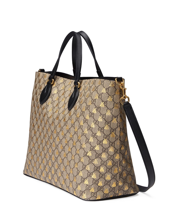 Gucci Bestiary GG Supreme Medium Top-Handle Tote Bag 9IHtcGe