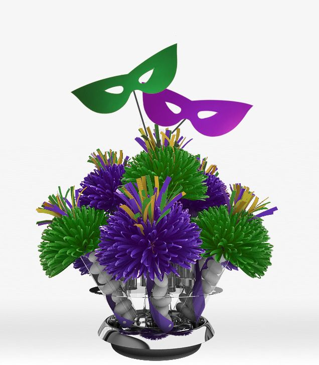 Mardi Gras Wedding Ideas: Mardi Gras Wedding Centerpieces