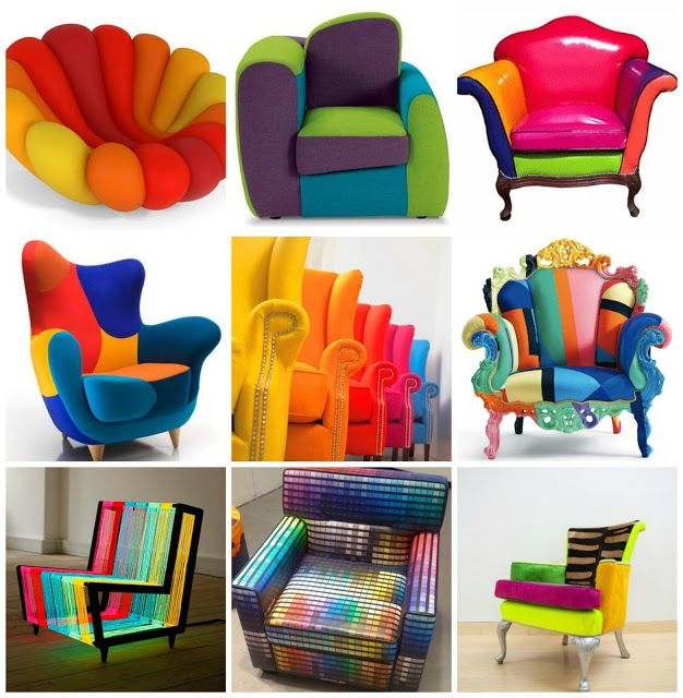 Colored Chairs Bright Color Chair Kids Room Chair Rainbow Chair Colorful Spots Kids Room Chair Chair For Kids Room Kids Chairs