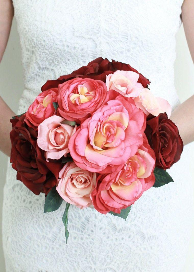 Mazzi Di Fiori Particolari Bouquet Tondo Rose Grandi