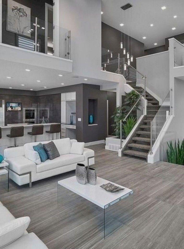 80 Ispiring Colorful And Fresh Living Room Ideas Livingrooms Livingroomideas Livingroomdecor Open Concept Living Room Modern House Design Dream Home Design