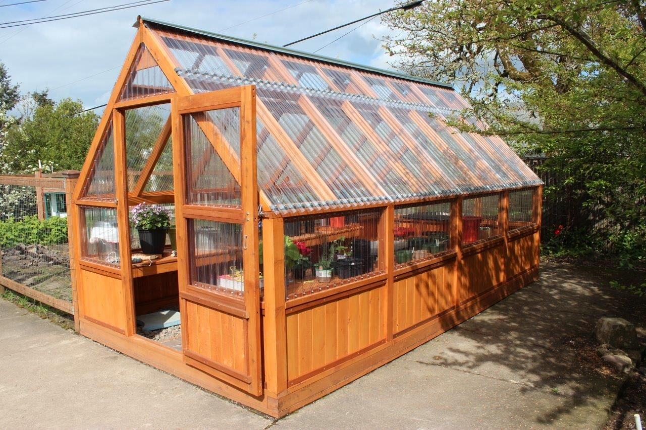 Wooden lean to greenhouse kits for Greenhouse design plans
