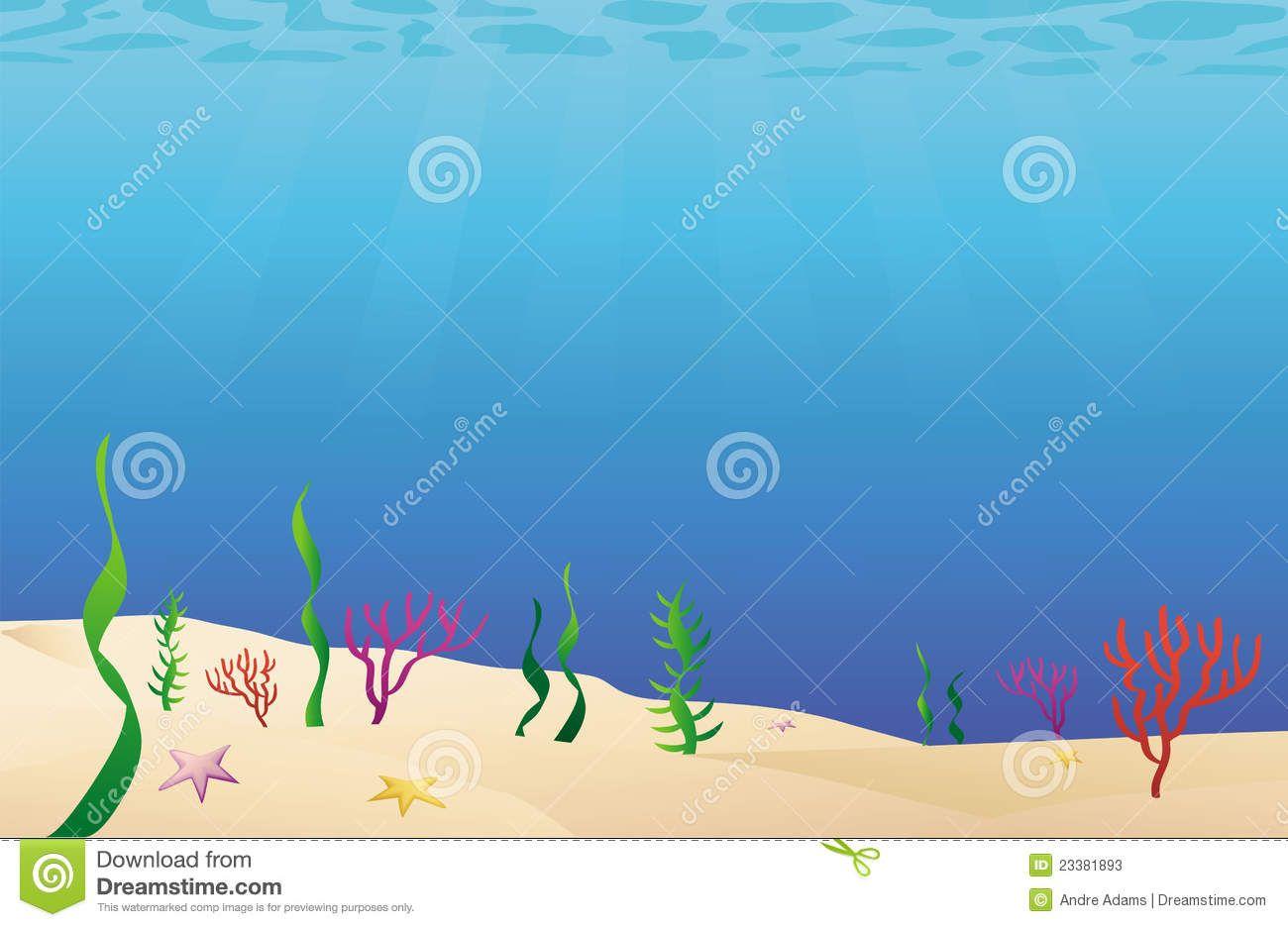 Cartoon Illustration Of A Ocean Floor Sea Bed Mr No Pr No 4 4503 13 Ocean Wallpaper Cartoon Illustration Ocean