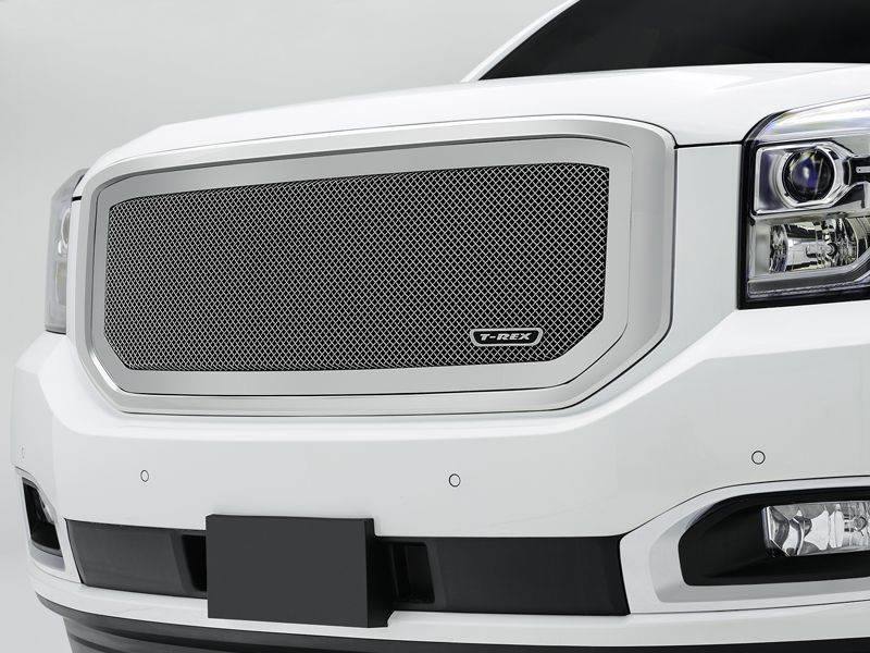 2015 GMC Yukon Mesh Grille Polished Upper Class Series by T-Rex