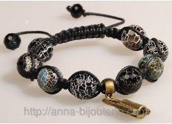 браслет шамбала агат с подвеской замочек Anna Bijouterie