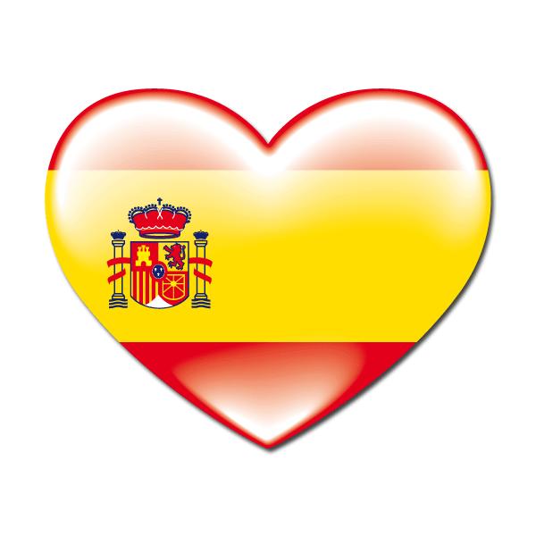 Pegatinas bandera coraz n espa a bandera pegatina teleadhesivo rebecas spain y amigos - Teleadhesivo vinilos decorativos espana ...