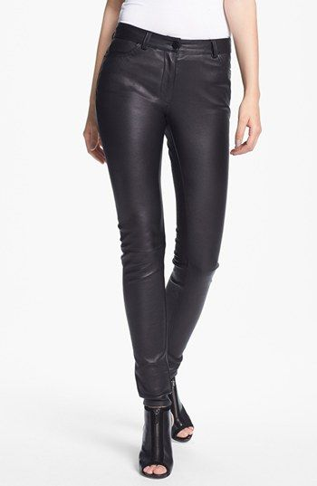 843d9c717d8e T by Alexander Wang Stretch Leather Pants available at  Nordstrom ...