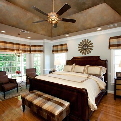 Bedroom Angled Tray Ceiling Design Ideas Pictures Remodel And