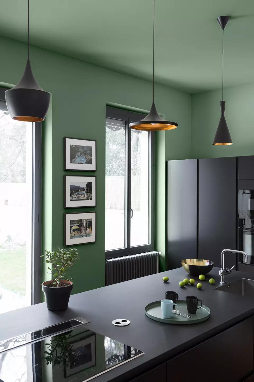VELOURS DE PEINTURE ® – Couleur Vert Potager   Idée couleur ...