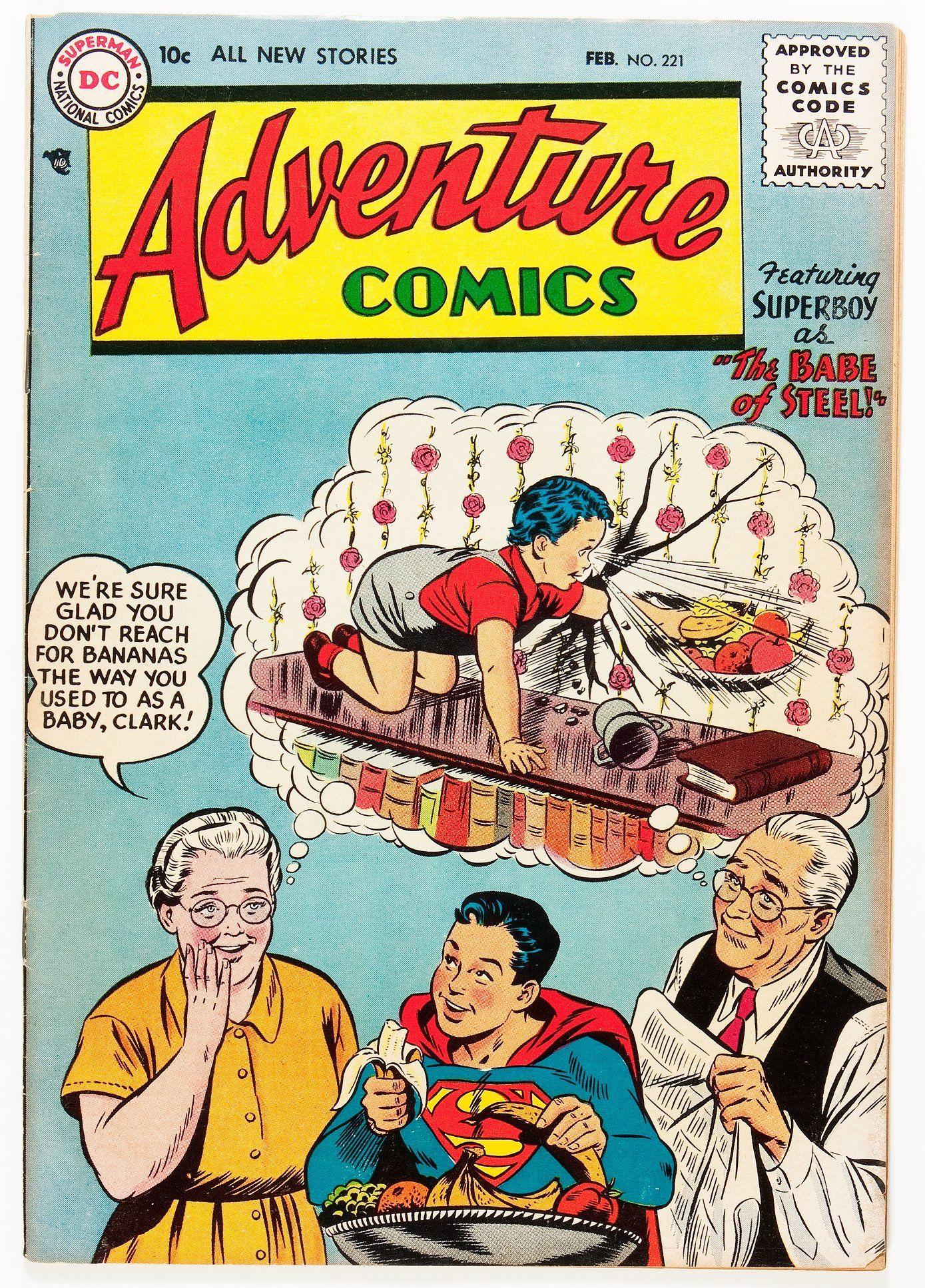 Adventure Comics #221 (DC, 1956) - Before our comic book heroes ...