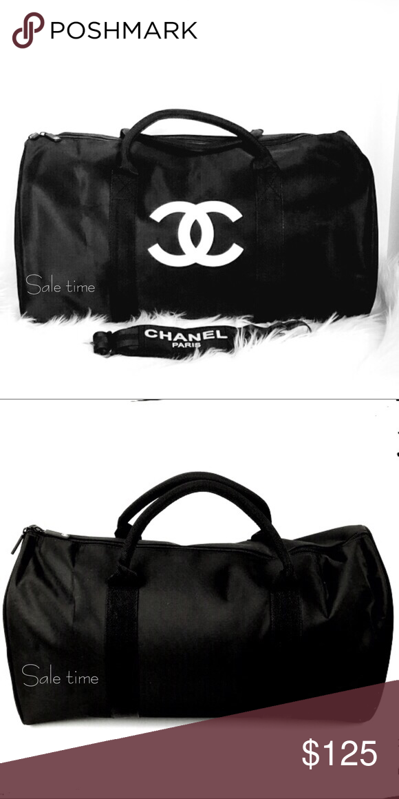 """Authentic Chanel travel   gym bag new New vip gift size 19"""" w x 13"""" l  CHANEL Makeup 198deed498"""
